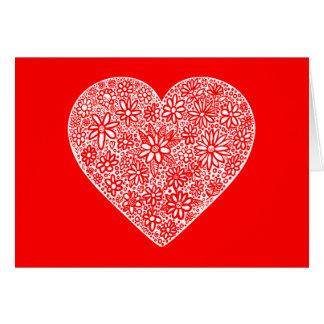 Flocked Heart Valentine Greeting Card