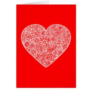 Flocked Heart Valentine - II Greeting Card