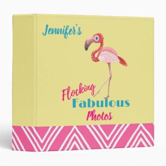 Flocking Fabulous Typography w/ Pink Flamingo Binder