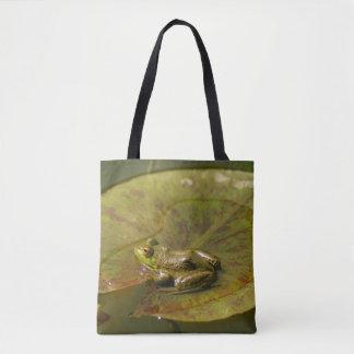 Flog on a Lily Pad Tote Bag
