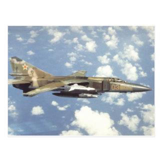 Flogger soviético MiG-23 Tarjeta Postal