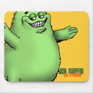 FloGrimace-Green, Jon Griffin, Art & Design Mouse Mat