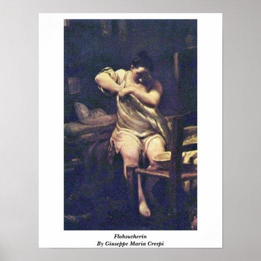 Flohsucherin By Giuseppe Maria Crespi Poster