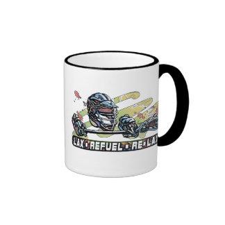 Flojo reaprovisione de combustible relajan el engr tazas de café