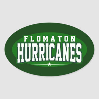 Flomaton High School; Hurricanes Oval Sticker