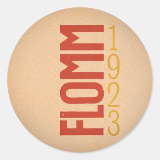 FLOMM 1923 CLASSIC ROUND STICKER