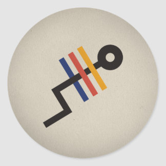 FLomm Heroes: TRÊS! Classic Round Sticker