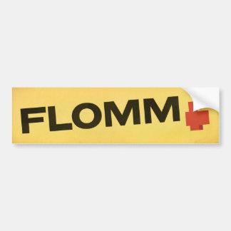 FLOMM positavo on yellow Bumper Sticker