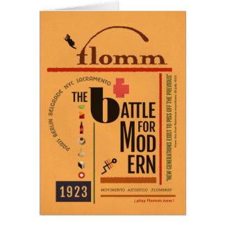 flomm the BATTLE for MODern Sachplakat Card