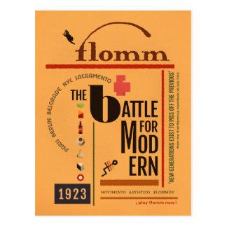 flomm the BATTLE for MODern Sachplakat Postcard