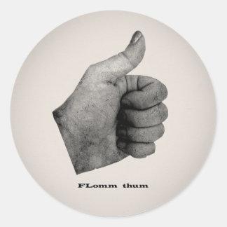 FLomm thum Classic Round Sticker