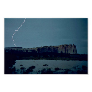 Flood at El Morro National Monument Posters