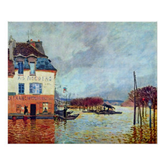 Flood at Port Manly by Alfred Sisley Print