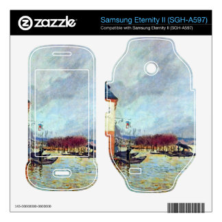 Flood at Port Manly by Alfred Sisley Samsung Eternity II Decal