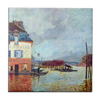 Flood at Port Manly by Alfred Sisley Ceramic Tiles