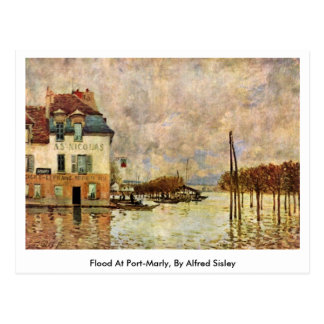 Flood At Port-Marly, By Alfred Sisley Post Card