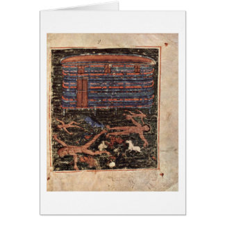 Flood By Master Of The Pentateuch-Ashburneham Greeting Card