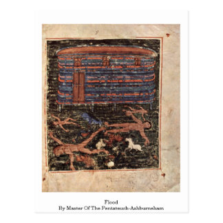 Flood By Master Of The Pentateuch-Ashburneham Postcard