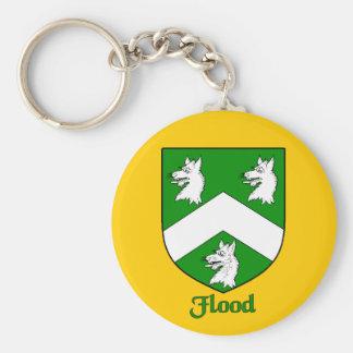 Flood Family Shield Keychain