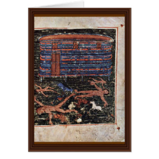 Flood, Fr: Manuscrit Du Pentateuque D'Ashburnham. Greeting Card