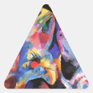 Flood Improvisation Triangle Sticker
