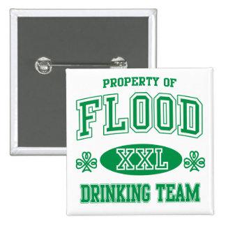 Flood Irish Drinking Team 2 Inch Square Button