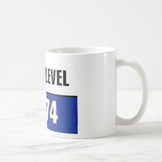 FLOOD LEVEL 1974 CLASSIC WHITE COFFEE MUG