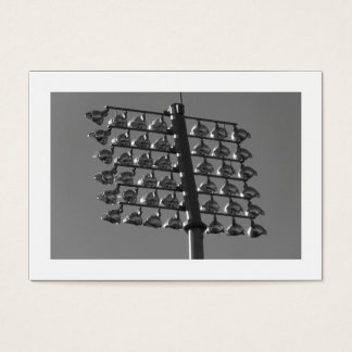 Flood Lights (B&W) (Bordered) Business Card