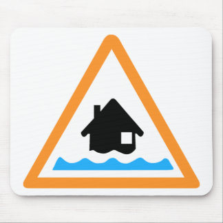 Flood Warning Symbol Mouse Pad