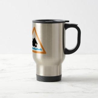 Flood Warning Symbol 15 Oz Stainless Steel Travel Mug