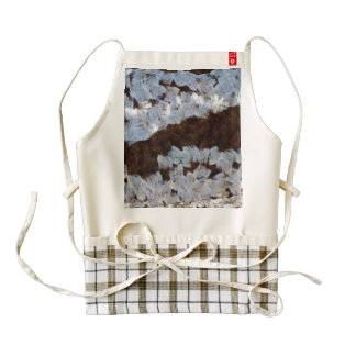 Flood waters covering a road zazzle HEART apron