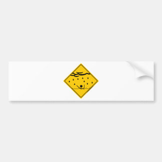 Flood Weather Warning Merchandise and Clothing Bumper Sticker