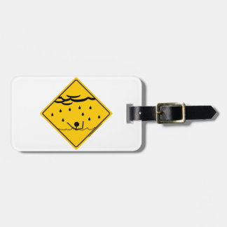 Flood Weather Warning Merchandise and Clothing Tags For Luggage