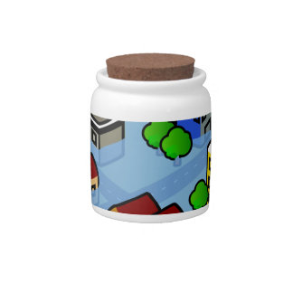 Flooded City Candy Jar