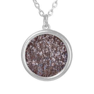 Flooded Cotton Crop Field Silver Plated Necklace