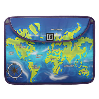 Flooded Earth Map Sleeve For MacBook Pro