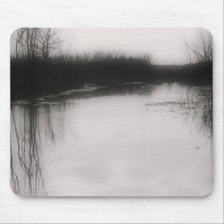 Flooded Field - Black & White Photo Mousepad