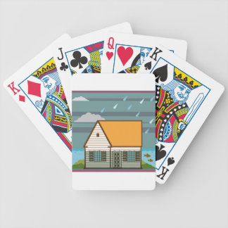 Flooded House Bicycle Playing Cards