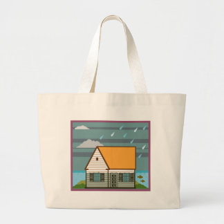 Flooded House Large Tote Bag