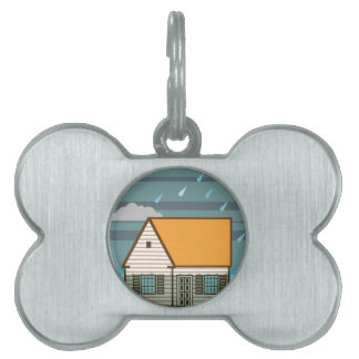 Flooded House Pet Name Tag