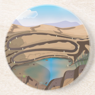 Flooded Open Cast Mine Drink Coaster