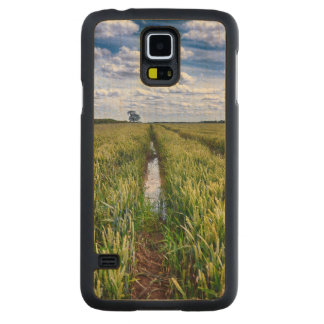 Flooded Tractor Tracks Carved Maple Galaxy S5 Slim Case