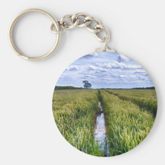 Flooded Tractor Tracks Keychain