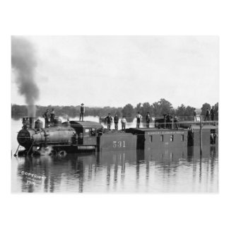 Flooded Train, 1904 Post Card