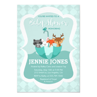 Flooded With Love Animal Baby Shower Invitation