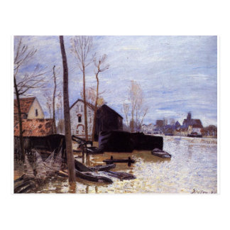 Flooding at Moret by Alfred Sisley Postcard