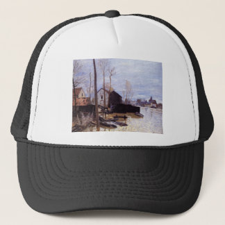 Flooding at Moret by Alfred Sisley Trucker Hat
