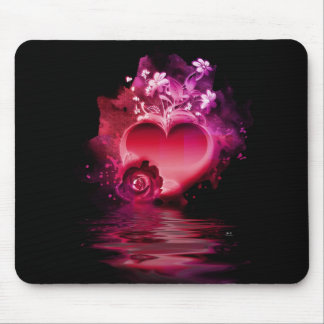 Flooding Heart Mouse Pad