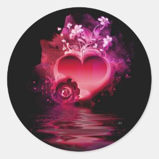Flooding Heart Sticker