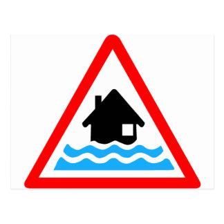 Flooding Warning Postcard